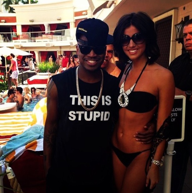 Lucy Mecklenburgh meets NeYo in Las Vegas - 31 March 2014