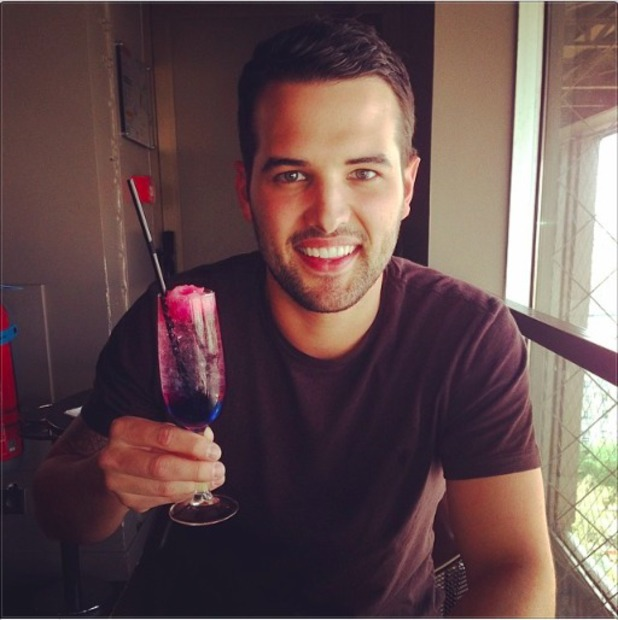Ricky Rayment enjoying a cocktail in Paris 1/4/14