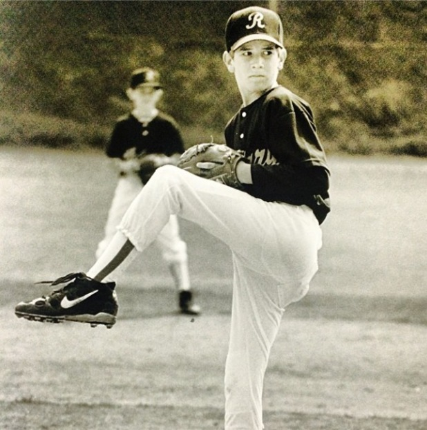 Jason Wahler shares throwback picture of himself playing baseball aged 11 - 4 april 2014
