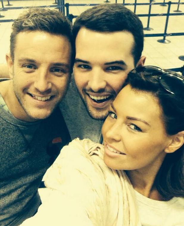 TOWIE's Ricky Rayment and Jessica Wright fly to Paris for a holiday, bump into Elliott Wright in airport - 1 April 2014
