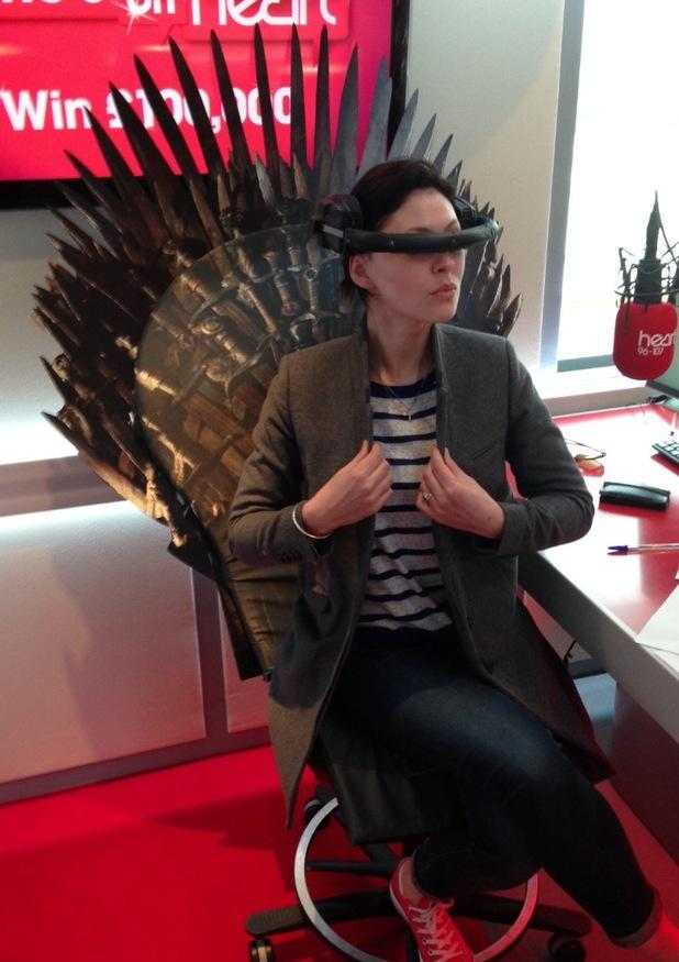 Emma Willis on throne