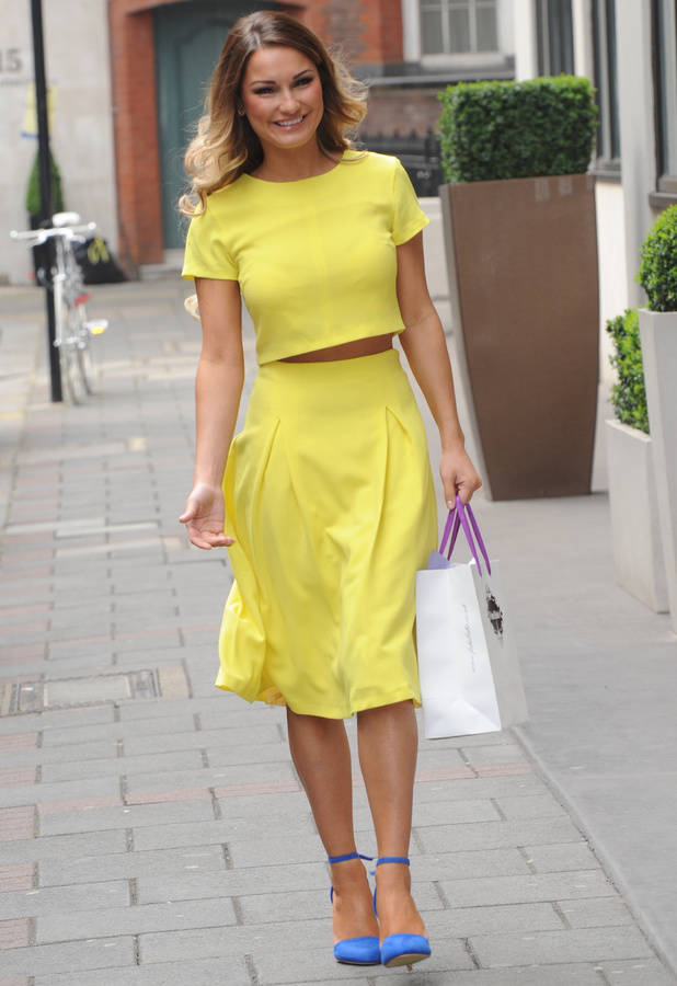 Sam Faiers heads to The May Fair hotel in London, England - 2 April 2014