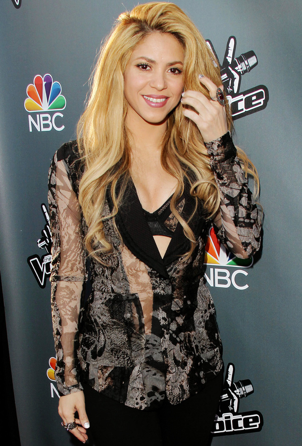 'The Voice' Red Carpet Event, Los Angeles, America - 03 Apr 2014 Shakira