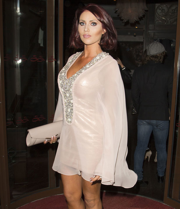 Amy Childs at the Sanctum Soho Hotel, London, 29 March 2014