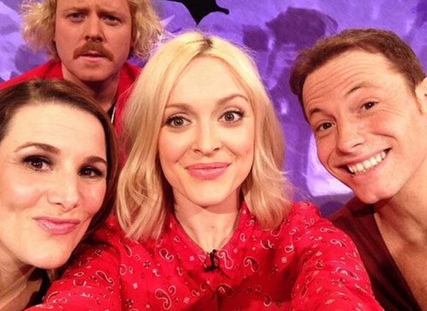 Sam Bailey on Celebrity Juice, Twitter picture 1 April 2014