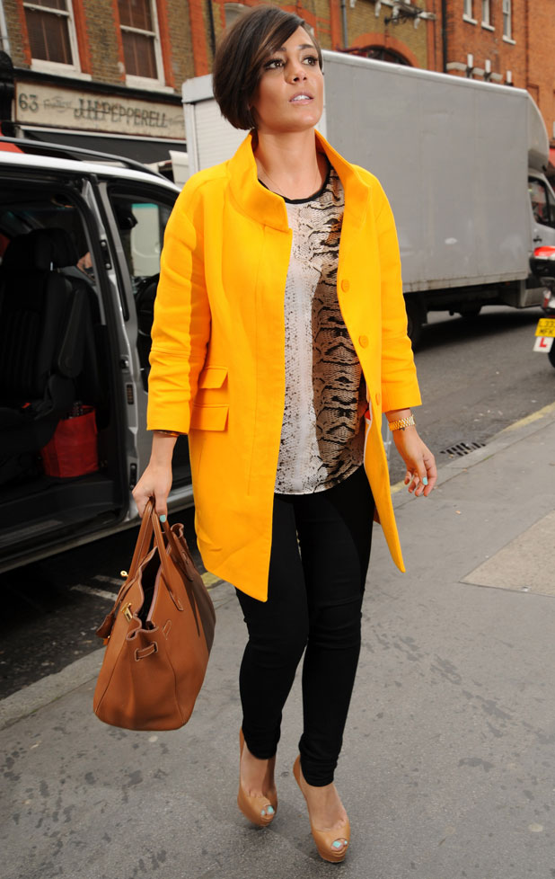 The Saturdays' Frankie Sandford on a day of promotion, 3 April 2014
