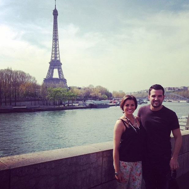 Jessica Wright and Ricky Rayment in Paris ahead of lunch at the Eiffel Tower, 1 April 2014
