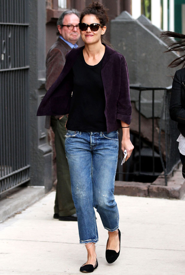 Katie Holmes out and about, New York, America - 01 Apr 2014