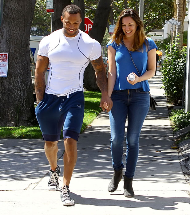 Kelly Brook out and about in Beverly Hills with fiance David McIntosh, 2 April 2014