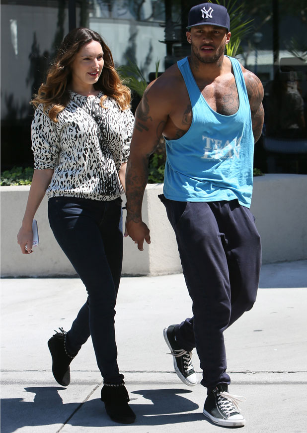 Kelly Brook and David McIntosh seen going for lunch in West Hollywood, 3 April 2014