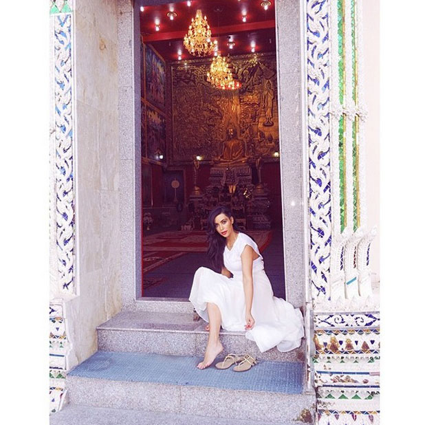 Kim Kardashian shares photos from family holiday to Thailand, 31 March 2014
