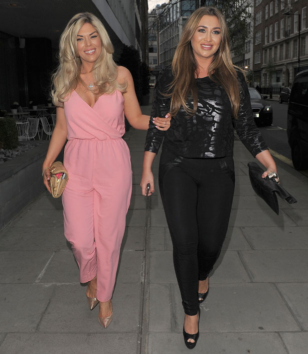 Lauren Goodger and Frankie Essex at Boux Avenue press event, Sanderson Hotel, London, 3 April 2014