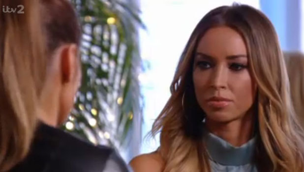 Lauren Pope in TOWIE, episode aired 30 March 2014