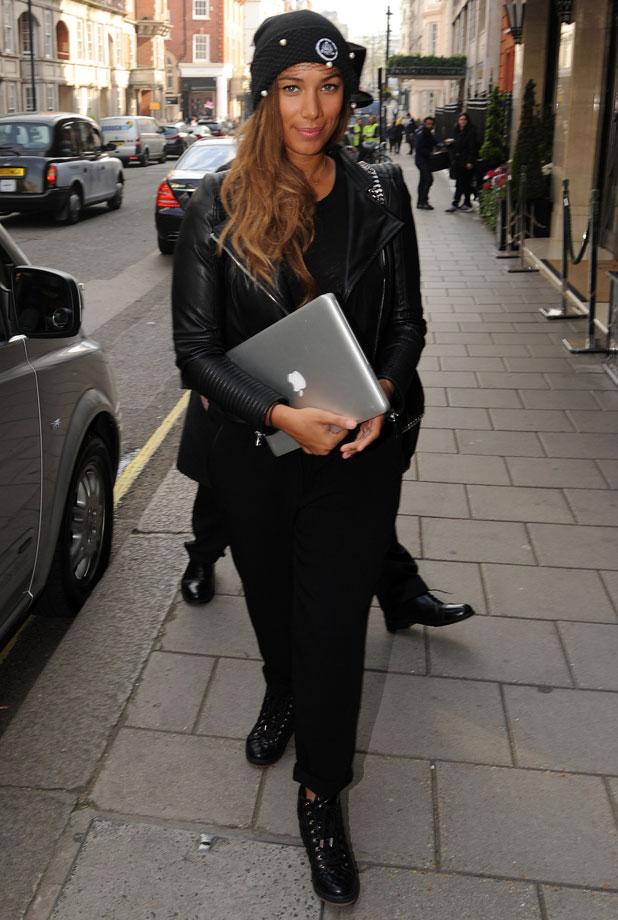 Leona Lewis pictured outside Claridges, 2 April 2014