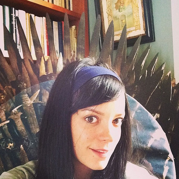 Lily Allen has her own Game of Thrones throne, 2 April 2014