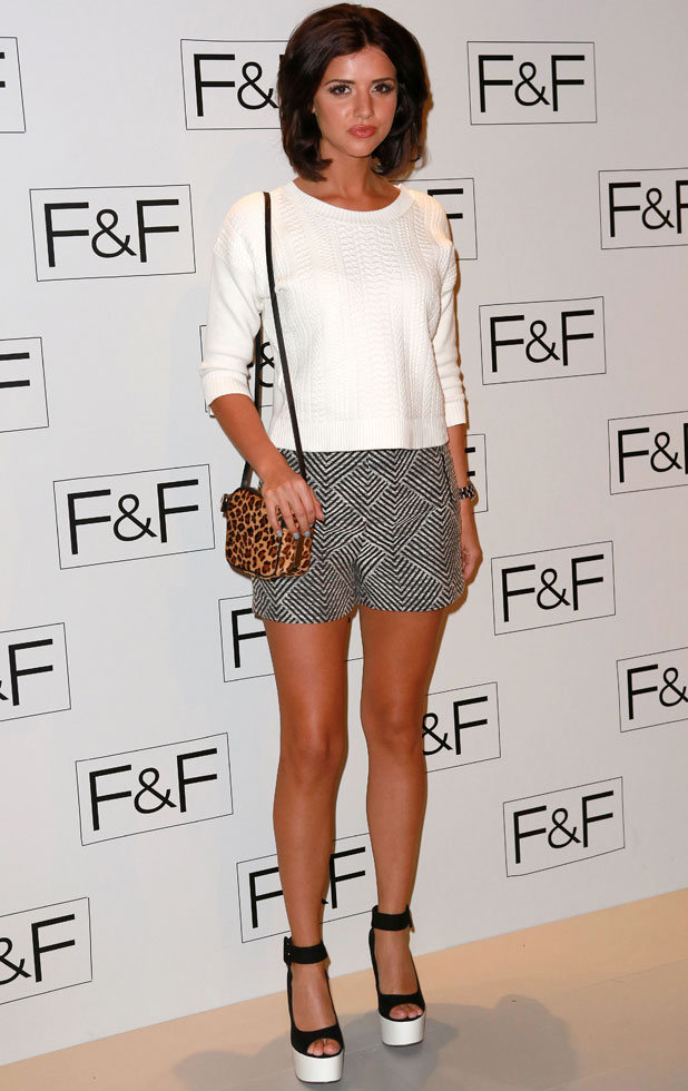 Lucy Mecklenburgh, F&F - A/W 2014 Fashion Show - Arrivals at Somerset House, London, 3 April 2014