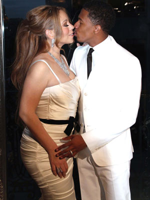 Mariah Carey and husband Nick Cannon. The celebrity couple celebrate their fourth anniversary of marriage, 2012