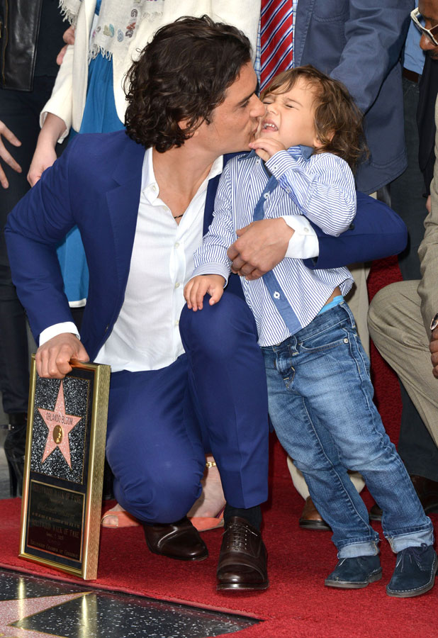 Orlando Bloom honoured with star on the Hollywood Walk of Fame, Los Angeles, America - 02 Apr 2014