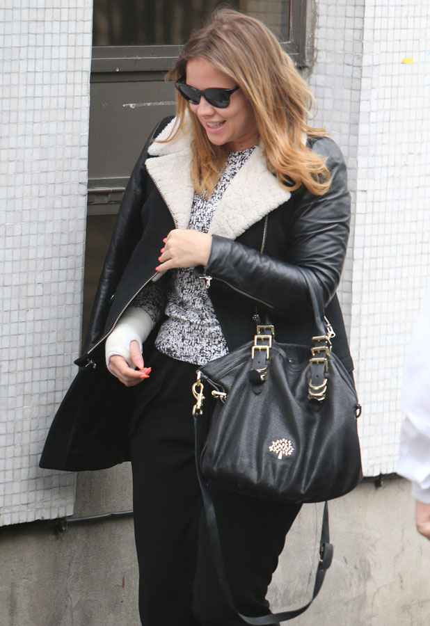 Kimberley Walsh outside ITV Studios ahead of Loose Women panel appearance, 3 April 2014
