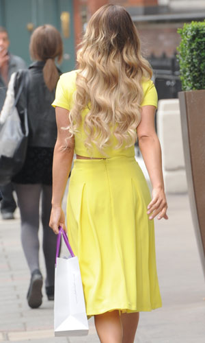 Sam Faiers out and about in London, Britain - 02 Apr 2014