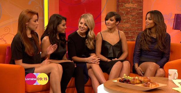 The Saturdays appear on ITV's Lorraine, London, 4 April 2014