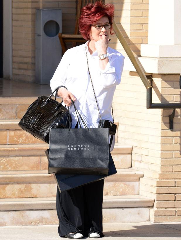 Sharon Osbourne shopping at Barneys New York in LA, 3 April 2014