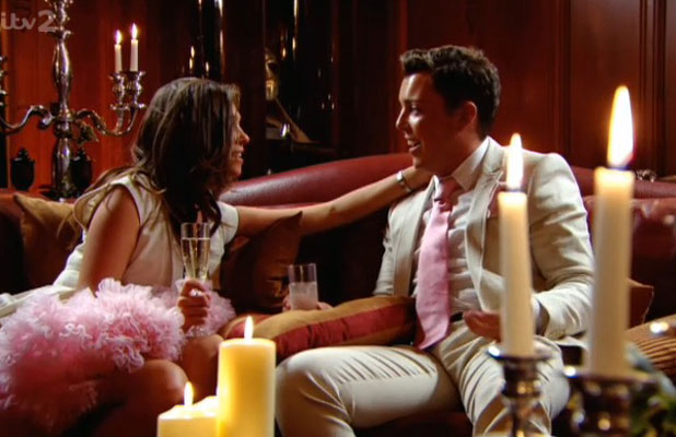 TOWIE's eleventh season finale, Diags and Fran admit their love for each other, aired 2 April 2014