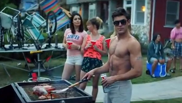 Zac Efron in the movie Neighbors, still from trailer, released May 2014