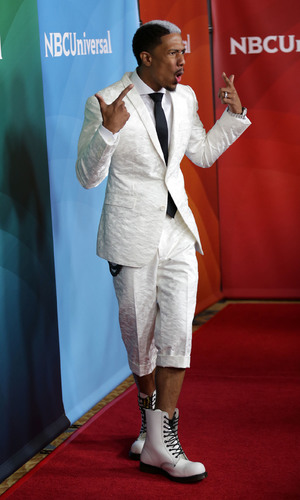 Nick Cannon - NBCUniversal's Summer Press Day - Arrivals 04/08/2014 Los Angeles, United States