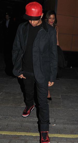 Nicole Scherzinger and Lewis Hamilton leaving Zuma restaurant, London, Britain - 10 Apr 2014
