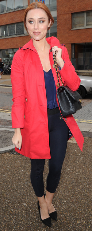 Una Healy steps out at the ITV studios in London, England - 7 April 2014