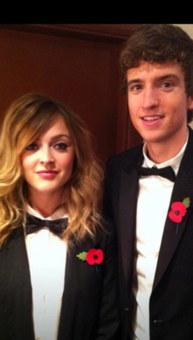 Fearne Cotton and Greg James in tuxes