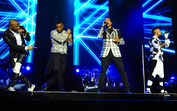 JLS - Oritsé Williams, Marvin Humes, Aston Merrygold and JB Gill - perfrom their last gig at the 02 Arena 12/22/2013 London, United Kingdom