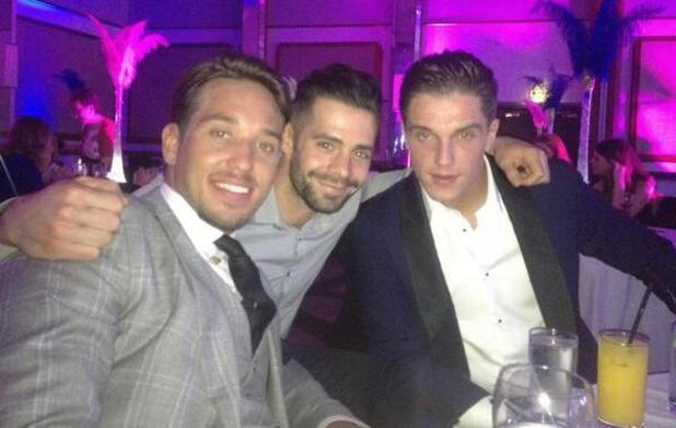 TOWIE's Lewis Bloor and James Lock hang out with former cast member Charlie King at the Young Scot Awards ceremony (10 April).