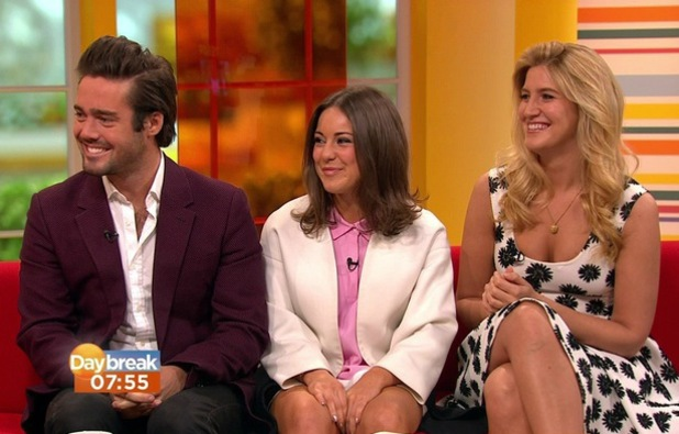Spencer Matthews appears on Daybreak with Louise Thompson and Cheska Hull - 7 April 2014