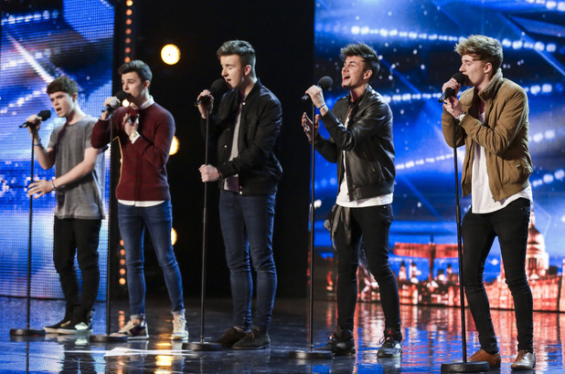 Britain's Got Talent hopefuls - Recall - consisting of Dale, Lewis, Tommy, Alex and Ollie.