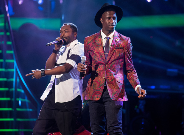Jermain Jackman, here performing with coach will.i.am, wins series three of The Voice UK (5 April).