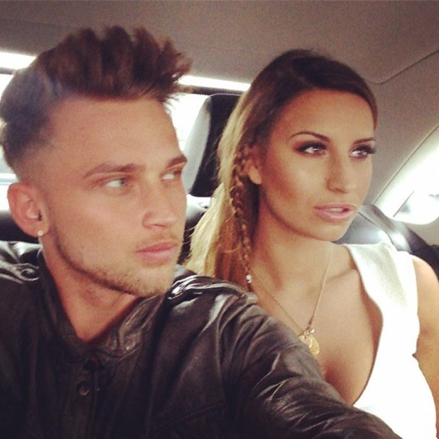 Ferne McCann Instagrams a picture while on her way to her Lasula Boutique spring/summer '14 clothing launch in Soho, London - 8 April 2014