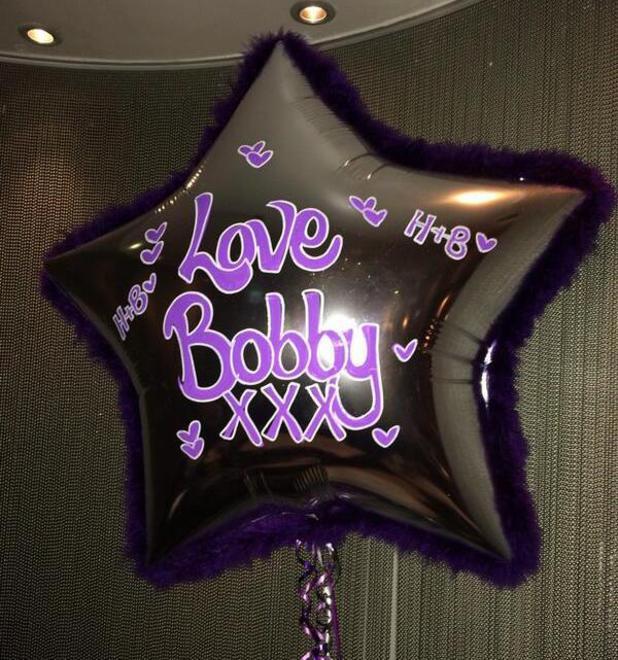 Harry Derbidge birthday balloon from TOWIE's Bobby Norris. (4 April).