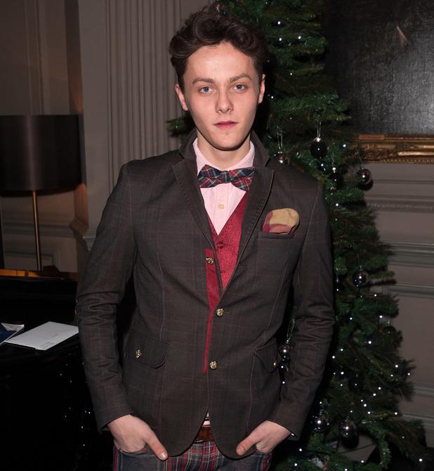 Tyger Drew-Honey at 'Aladdin' celebrity press night held at the New Wimbledon Theatre - Arrivals - 9 Dec 2014