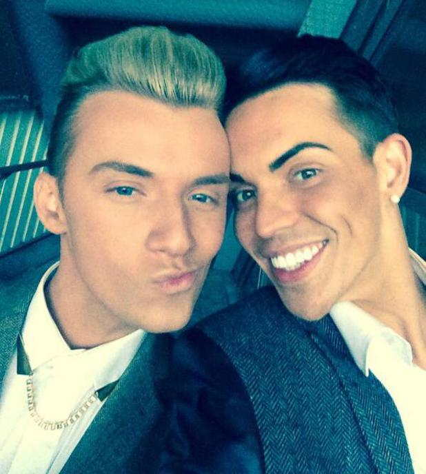 TOWIE's Bobby Norris and Harry Derbidge at the Young Scot Awards ceremony (10 April).