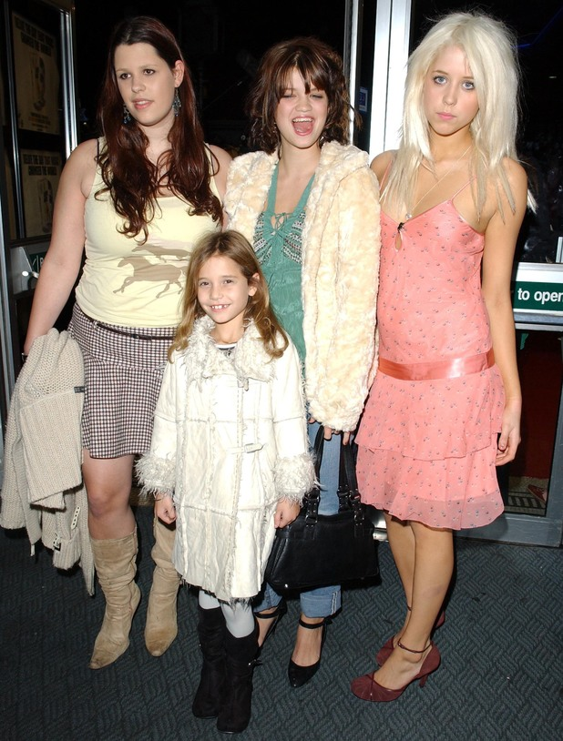 'LIVE AID' DVD RELEASE SCREENING, LONDON, BRITAIN - 07 NOV 2004 Fifi Trixibelle, Pixie and Peaches Geldof with Heavenly Hiraani Tiger Lily 7 Nov 2004