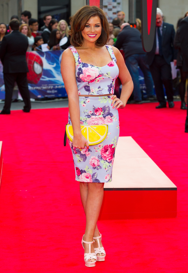 TOWIE's Jessica Wright attends the premiere of The Amazing Spider-Man 2 in London, England - 10 April 2014