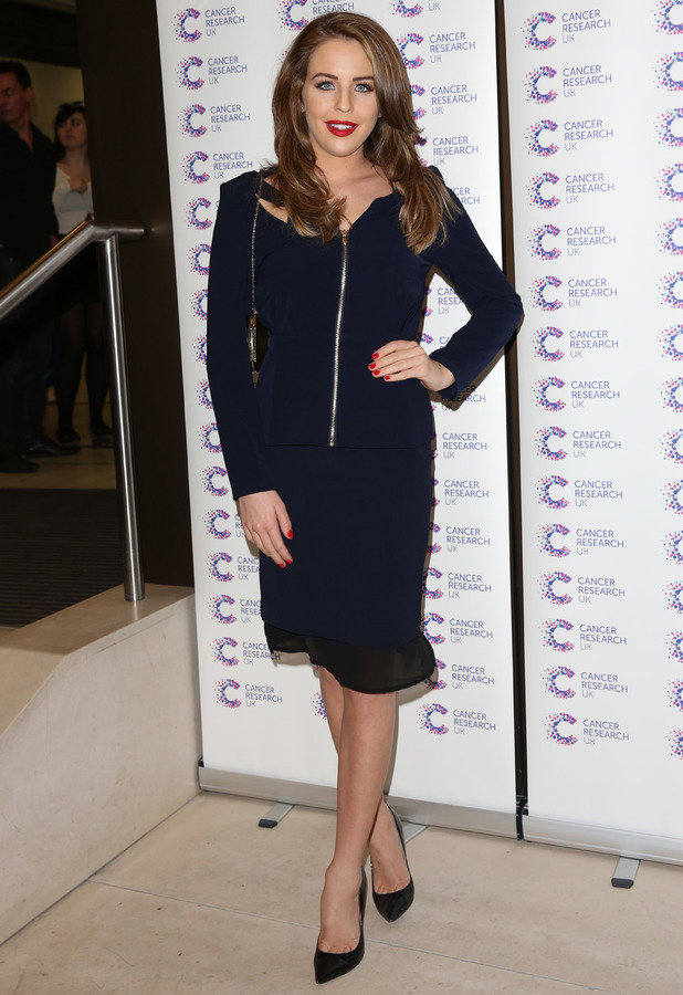 Lydia Bright attends the Jog On To Cancer charity fundraising event in London, England - 9 April 2014