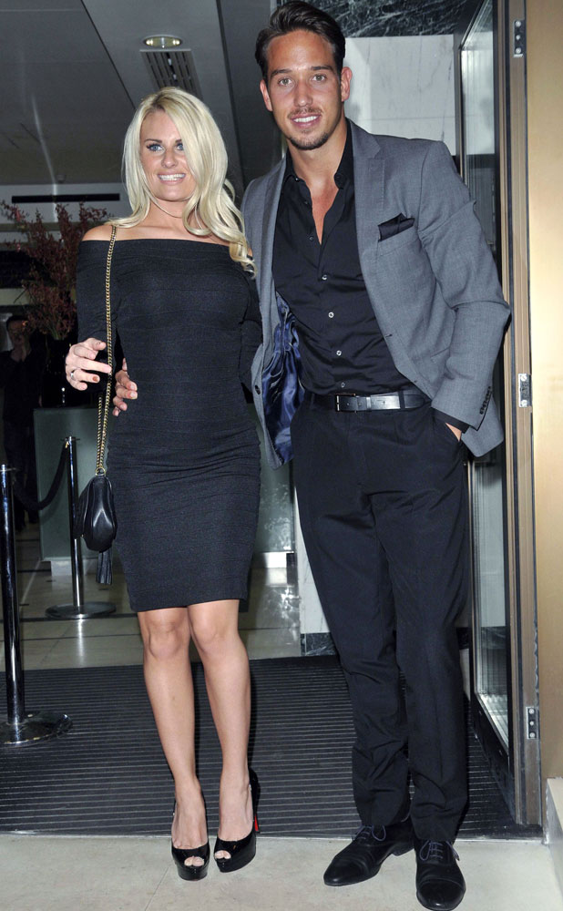 Danielle Armstrong and James Lock, Jog on to Cancer Fundraiser, London, Britain - 09 Apr 2014
