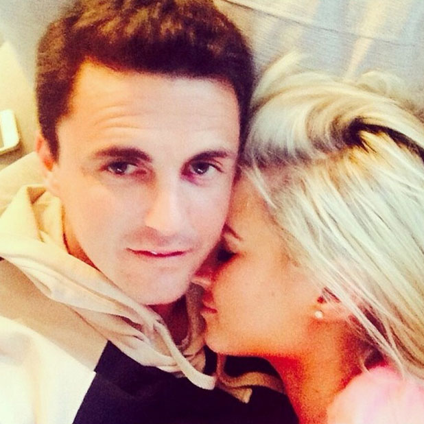 Billie Faiers and Greg Shepherd cuddle for a cute selfie, 6 April 2014