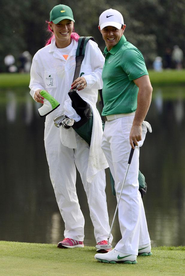 Caroline Wozniacki, Rory McIlroy Masters Golf tournament Par 3 contest, Augusta National Golf Club, Georgia, America - 09 Apr 2014