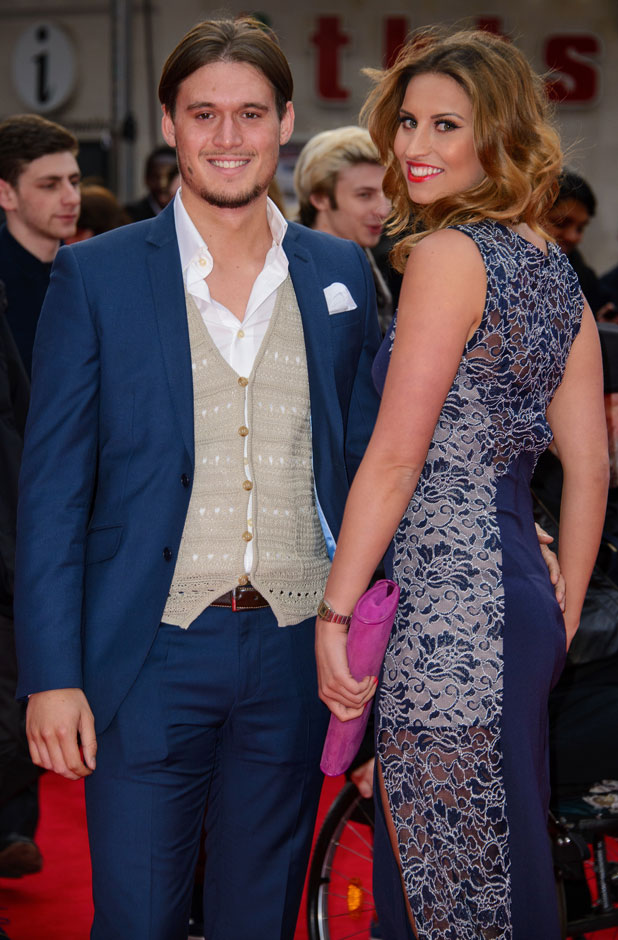Ferne McCann, Charlie Sims, The Amazing Spider-Man 2' World Premiere held at the Odeon Leicester Square - Arrivals, 10 April 2014