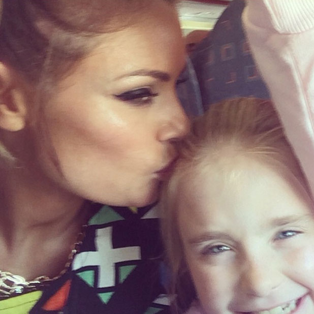 Chloe Sims and daughter Madison enjoy a sunny holiday after eleventh season finale of TOWIE, April 2014