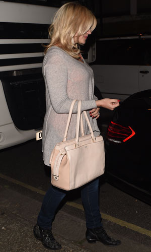 Holly Willoughby leaving Riverside Studios after recording ITV comedy panel game 'Celebrity Juice', 9 April 2014